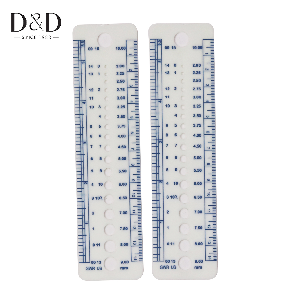 Ich Cm Us 3 55 2 Pcs Plastic Knitting Needle Sizes Gauge Inch Cm Ruler Tools Us Uk Canada Sizes In Sewing Tools Accessory From Home Garden On