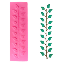 3D Tree Leaf Chocolate Cake Border Silicone Mold Fondant Lace Decorating Tools 3d Soap Molds Cupcake Silicon Mould