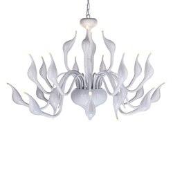 Swan żyrandol światła europejski LED Swan świeca żyrandole w stylu Art Deco esign swan żyrandol oświetlenie dla loft G4 żarówki LED