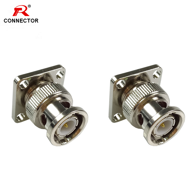 1PC BNC MALE CHASSIS MOUNT Connectors High Quality BNC MALE CHASSIS PANEL MOUNT SOCKET