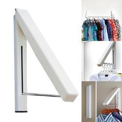 Folding Wall Hanger Retractable Indoor Waterproof Hangers Clothes Rack Towel Clothers Organizationn