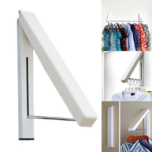 folding wall hanger retractable indoor waterproof hangers clothes rack towel clothers organizationnchina mainland - Clothes Wall Hanger