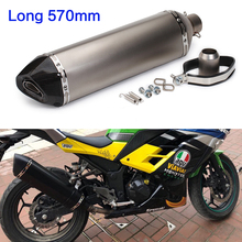 570mm Motorcycle exhuast pipe muffler akrapovic escape moto sportster with db killer for Z750 R6 250cc 600c tmax 530 500 nc750x