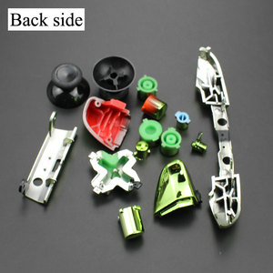 Image 3 - YuXi For Xbox One S Replacement Full Chrome Buttons Kit ABXY Trigger analog stick Parts for Xbox One Slim