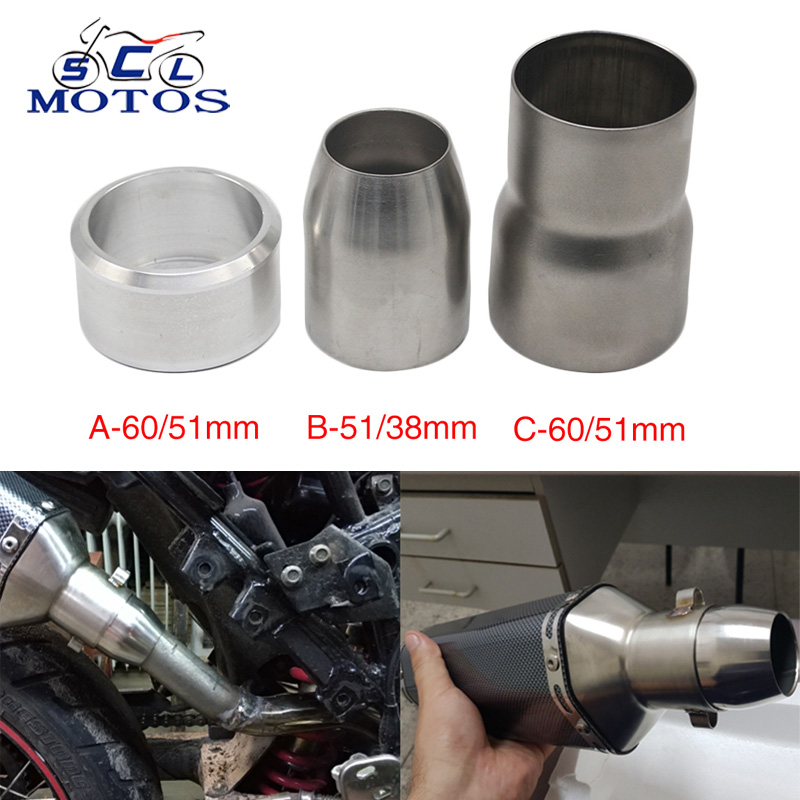 50.8mm to 47.62mm Stainless Steel Standard Exhaust Reducer Connector Pipe Tube