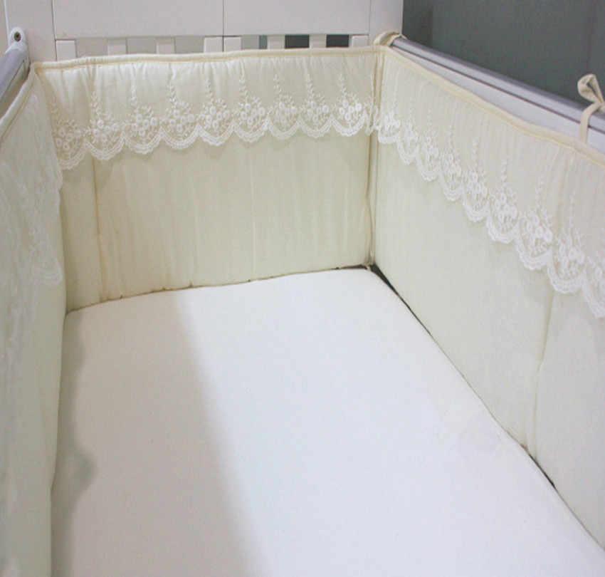 230*28 см детский бампер удобный мягкий хлопок Радужный цвет кружева полукруг детская кроватка с амортизатором детская кровать Защитные подушки, постельные принадлежности