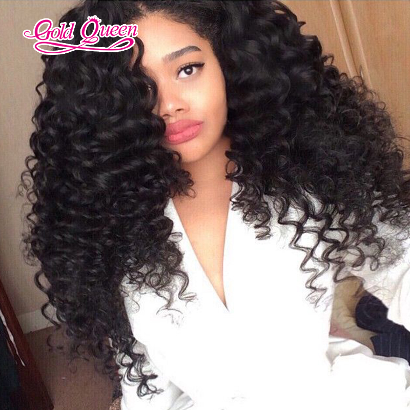 Cheap 250 Deep Wave Curly Lace Front Wigs Brazilian Lace