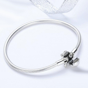 Image 4 - 100% 925 Sterling Silver Dog Head Clasp Charm Bracelet Hot Sale Innovative Lovely Fashion Jewelry Gift For Women Girlfriend
