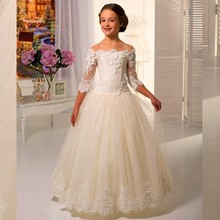 2015 Cute Ball Wedding Children Kids Evening Gowns Floor Length Flower Girl Dress Bridal Beauty Pageant Dresses For Girls 10 12 children pageant evening ball gowns girls party dress kids elegant glitz red yellow blue emerald green flower girl dresses
