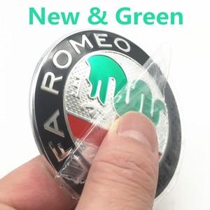 2 шт./партия, 74 мм, автомобильный Стайлинг, цвета для ALFA ROMEO, передний задний логотип, эмблема, значок, наклейка для Alfa Romeo, Mito 147 156 159 166