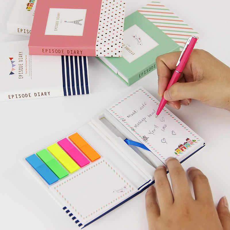 El Mini Bloc de notas creativo de 1 pieza de Kawaii viene con un bloc de notas con bolígrafo para que sus hijos aprendan lo mejor