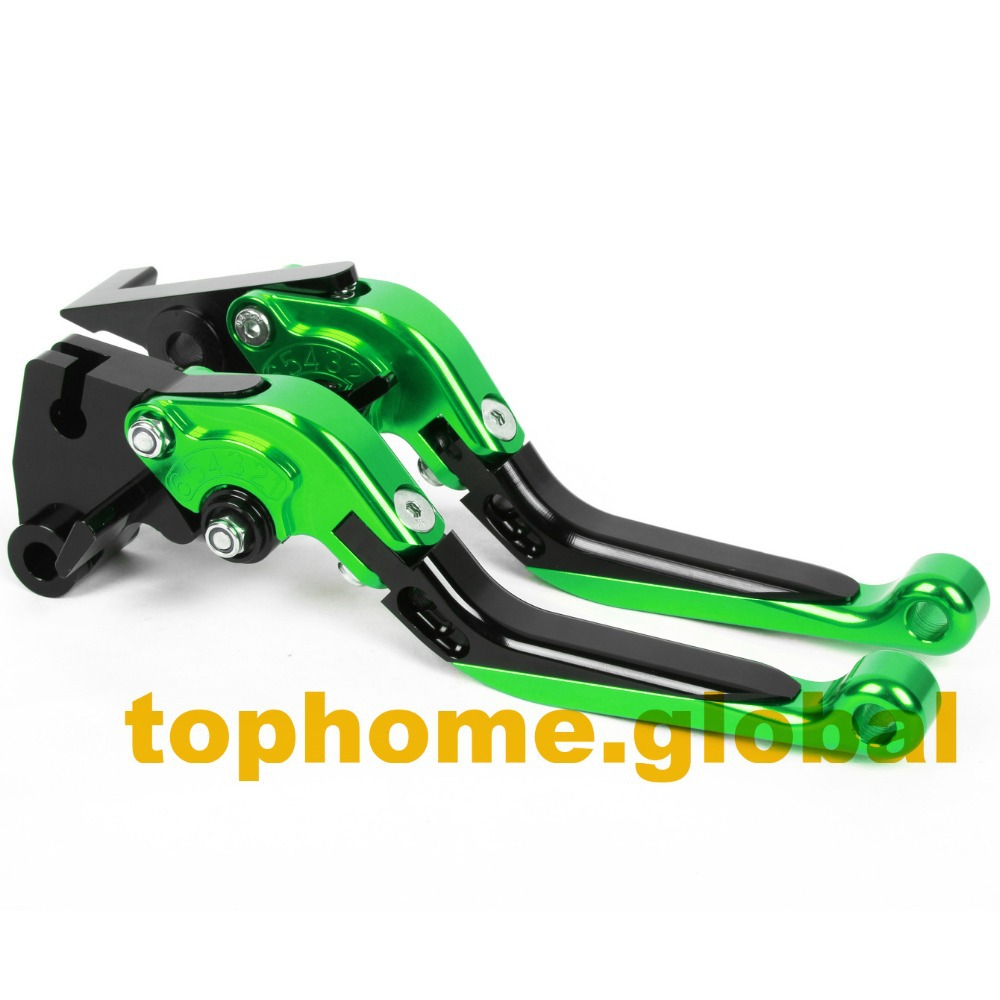 Motorcycle Accessories CNC Folding&Extending Brake Clutch Levers For Kawasaki ZX6R/636 2007-2014 2008 2009 2010 2011 2012 2013 motorcycle new adjustable cnc billet short folding brake clutch levers for aprilia mana 850 2007 2012 2008 2009 2010 2011