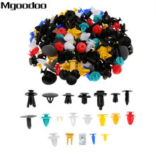 200PCS 20Kinds Universal Mixed Fasteners Door Trim Panel Auto Bumper Rivet Car Clips Retainer Push Engine Cover Fastener Kit недорого