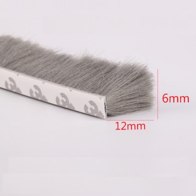 Self Adhesive Sealing Strip Felt Draught Excluder Wool Pile Weatherstrip  Sliding Door Window Brush Seal 6x12