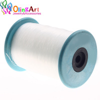 DIA 0 2MM 3000M Inelastic Line White Strong Beading Cord Wire String For Thread Jewelry Making