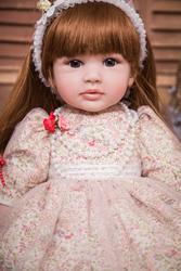 60cm Silicone Vinyl Reborn Baby Doll 24inch Princess Toddler Alive Bebe Accompany Doll Birthday Gift Present For Kid Girl Boneca