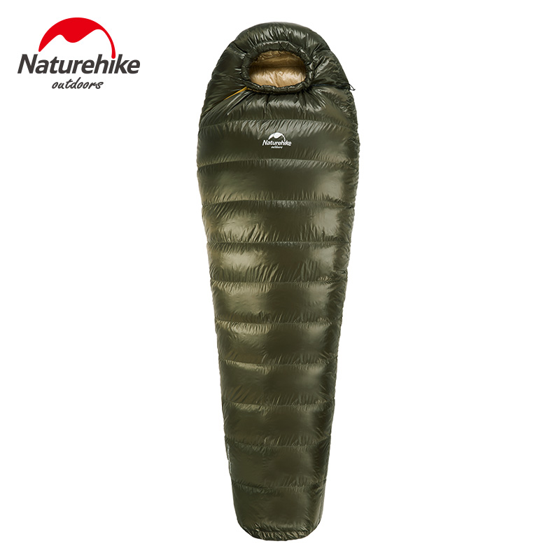 Naturehike Outdoor Camping Winter Sleeping Bag Down Sleeping Bag Mummy Single Sleeping Bag With Hooded Fr Cold Weather naturehike 14 degree duck down sleeping bag adult mummy sleeping bag outdoor winter sleeping bag cold weather nh15dk1000l