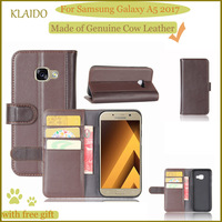 KLAIDO Genuine Leather Mobile Phone Case For Samsung Galaxy A5 2017 Phone Case Wallet Case For