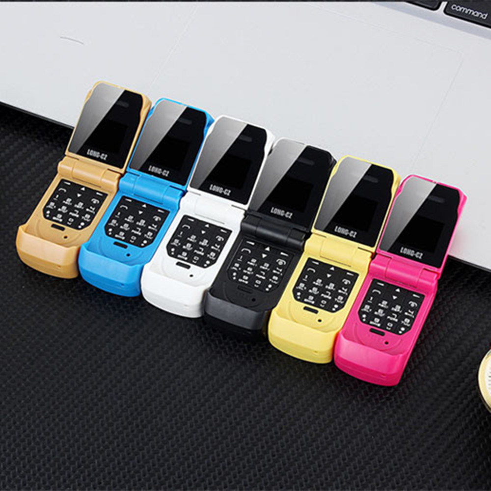 LONG-CZ J9ミニフリップ携帯電話0.66