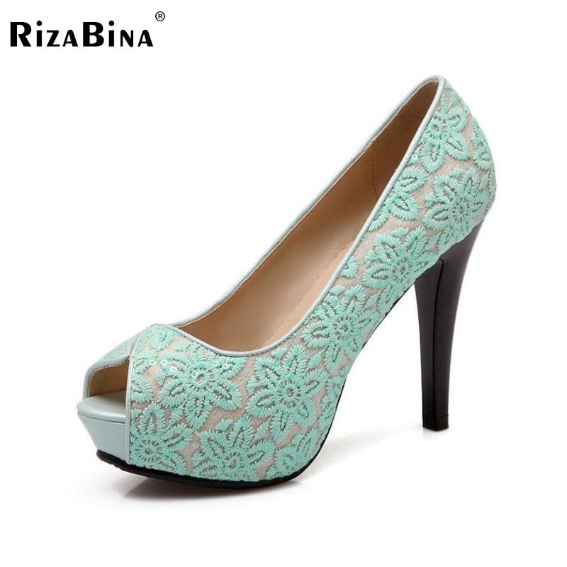 ФОТО women platform stiletto high heel shoes lady peep open toe quality footwear fashion heeled pumps heels shoes size 32-43 P17204