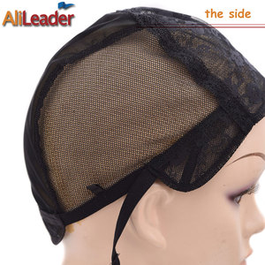 Image 3 - Cheap 20Pcs XL/L/M/S Stretch Swiss Lace Wig Cap For Making Wigs With Adjustable Straps Black Hairnet Invisible Hair Nets For Wig
