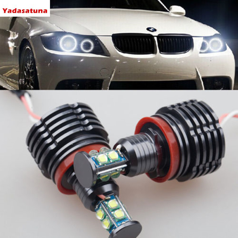 Set CREE T6 Chips LED Light 160W H8 HID Xenon 6000k Error Free Angel Eyes Halo Ring for BMW E60 E70 E87 E90 E92 E93 X5 X6 Z4 M3