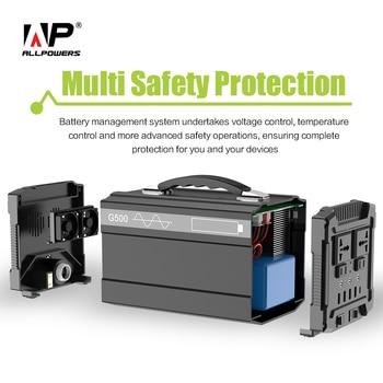 ALLPOWERS 78000mAh Power Bank 5V/12V/220V Portable Generator Power Station Charge for Phones Tablets Laptops TV Fans Car Battery