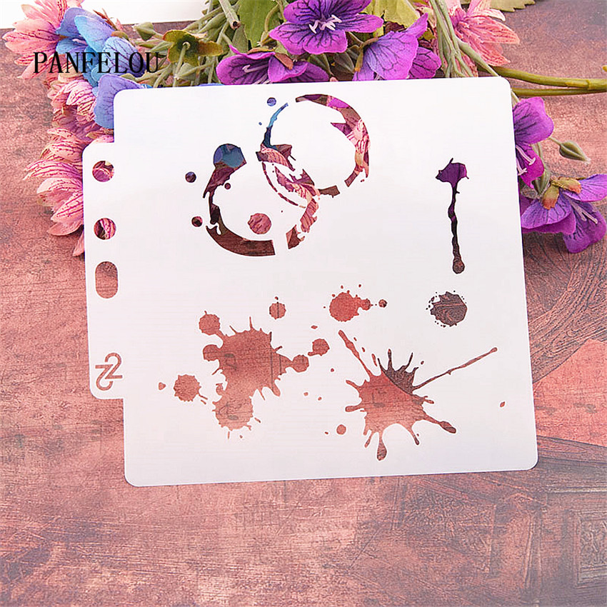 Ink Ring Compass Scrapbook Stencils Spray Plastic Mold Shield DIY Cake Hollow Embellishment Printing Lace Ruler Valentine