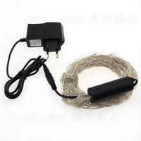 Silver Wire 360LEDs Decorative String Light 12V DC for Christmas With Power Adapter, led christmas tree light with high bright