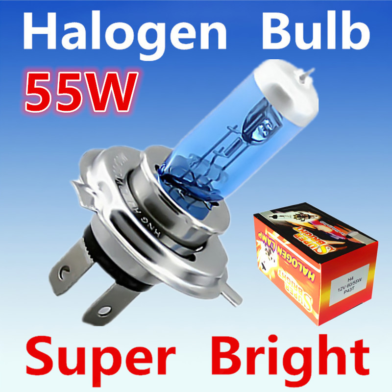 10pcs H4 55W 12V Super White Fog Lights Halogen Bulb High Power Car Headlight Lamp Car Light Source parking Head auto 6000K 12v led light auto headlamp h1 h3 h7 9005 9004 9007 h4 h15 car led headlight bulb 30w high single dual beam white light