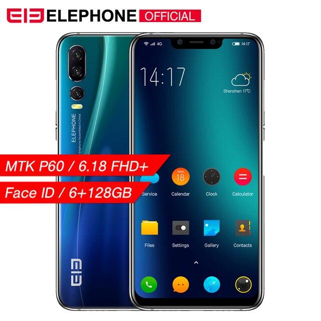 Cargadores de coche Elephone A5 6 GB 128 GB teléfono móvil Android 8,1 MTK6771 Octa Core 6,18 pulgadas FHD + U-primera pantalla 20MP 4000 mah Cámara 4G Smartphone