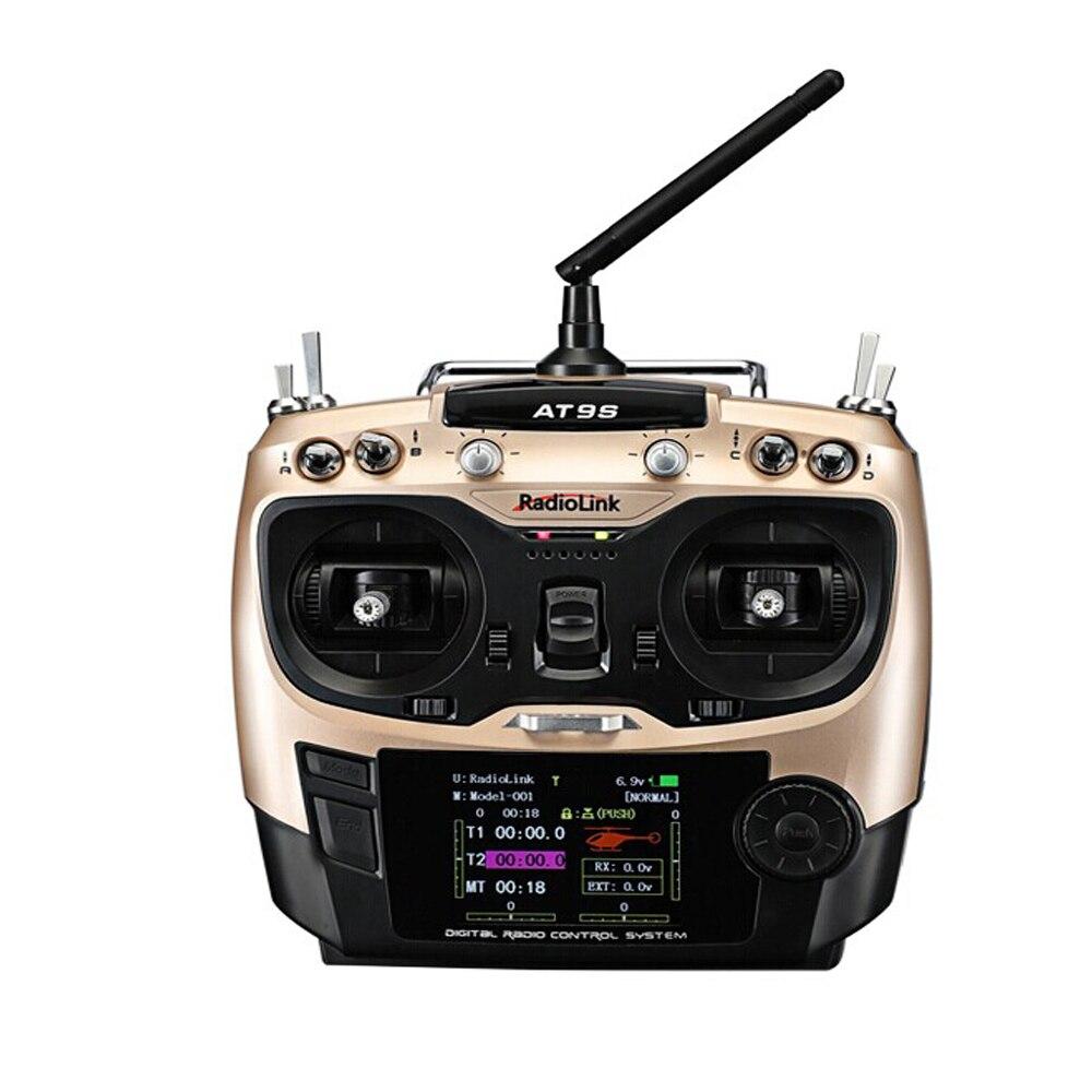 Émetteur de mise à niveau RadioLink AT9S 2.4 GHz 10CH AT9 avec télécommande récepteur R9DS DSSS FHSS pour hélicoptère quadrirotor RC