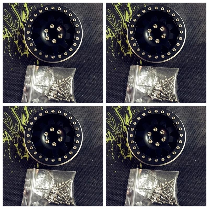 New Arrival !!!  Wraith RC4WD 2.2inch Aluminum Beadlock Wheel Rims RC 1/10 Crawler Truck CC01 F350 D90 RC4WD 90034 #2 2 2inch wheel rims for wraith rc4wd 8 spoke alloy beadlock 1 10 crawler car 2 2 wraith wheels high quality