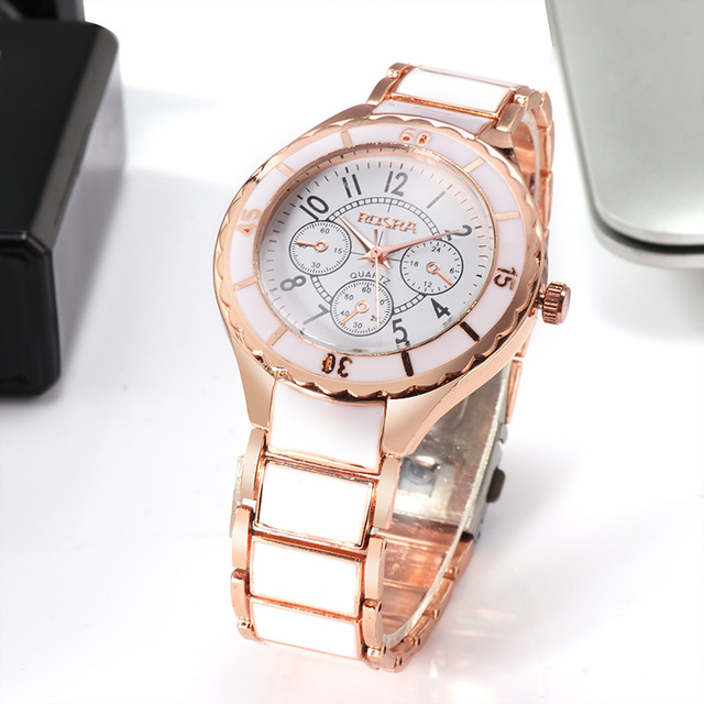 2018 Fashion Women Watches Personality Romantic Rose Gold Wrist Watch Stainless Steel Ladies Clock montre femme reloj mujer 1