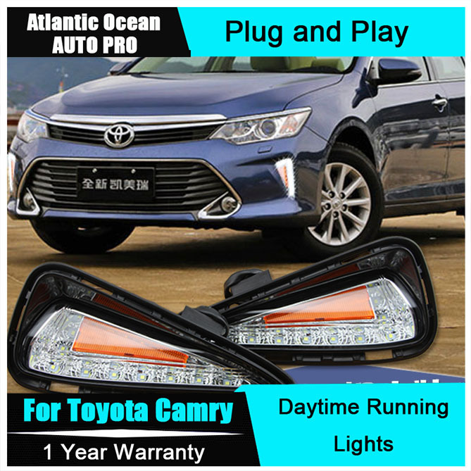 AUTO PRO 2015 For Toyota Camry LED DRL Car Styling New Camry LED Daytime Running Light LED fog lights LED driving lights lyc fog light universal led for car lights car led driving lamps daytime running light switch automatic for toyota drl led lamp