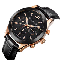 Real Functions JULIUS Men's Watch ISA Quartz Hours Business Clock Bracelet Leather Boy Birthday Christmas Valentine Gift