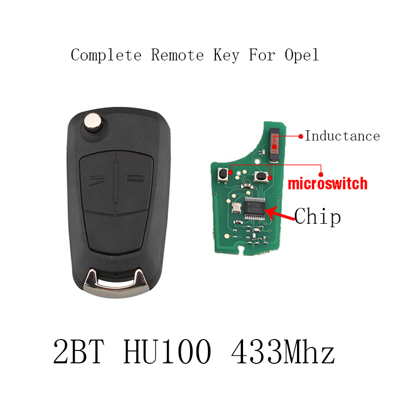2Buttons PCF7946/PCF7941 Chip Car Remote Key For Vauxhall Opel Astra H Zafira B 2005 2006 2007 2008 2009 2010 433Mhz key