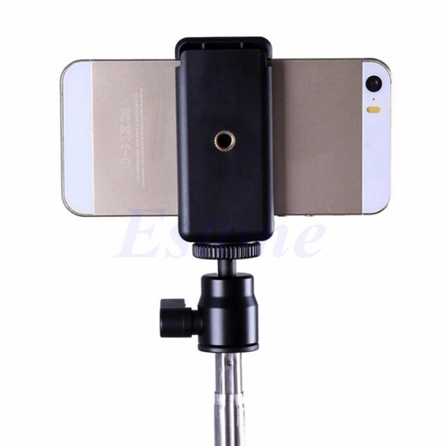 Universal Tripod Monopod Stand Mount Selfie Clip Bracket Holder For iPhone 6 HTC 2