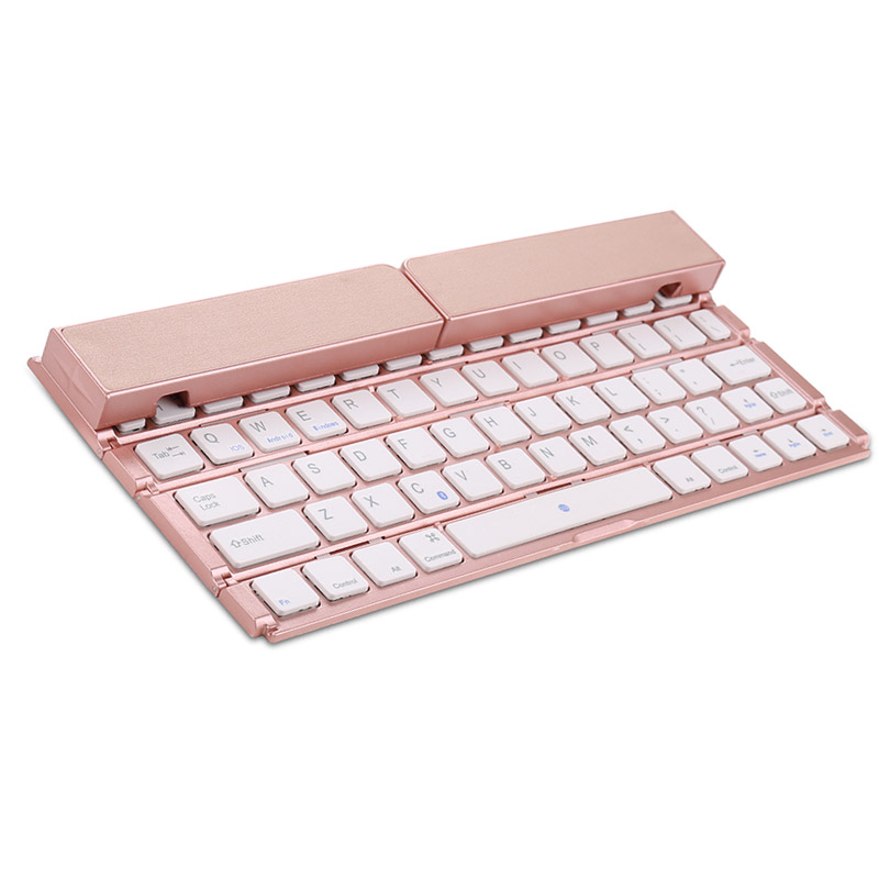 Mini Four Foldable keyboard Bluetooth Wireless With Stand For IOS Apple For Android For iPad Tablet Folding Keyboard For Phones ultra thin foldable bluetooth keyboard cable mini keyboards for apple iphone ipad macbook ios android tablet pc computer