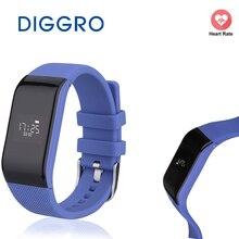 Diggro R1 Спорт Фитнес трекер Браслет сердечного ритма браслет Водонепроницаемый Bluetooth Группа сна для Android IOS телефон смарт-часы