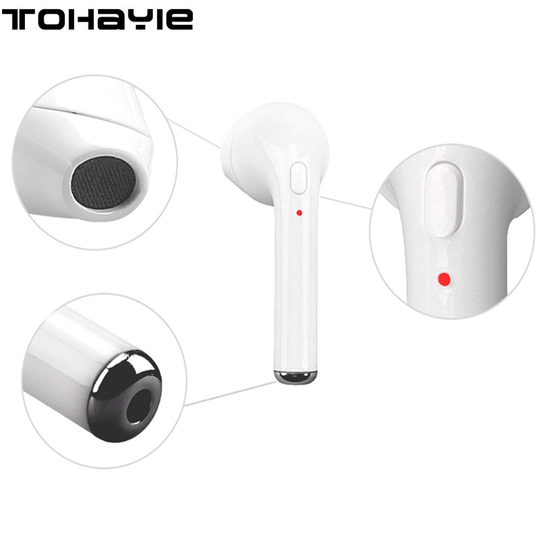 ToHayie I7 Mini Wireless Bluetooth Headset Earphones HiFi Earbuds Auriculares Bluetooth fone de ouvido Music Ear Buds PK X2T X3T headset bluetooth fones de ouvido bluetooth wireless earbuds in ear fone de ouvido bluetooth mini bluetooth headset qcy50