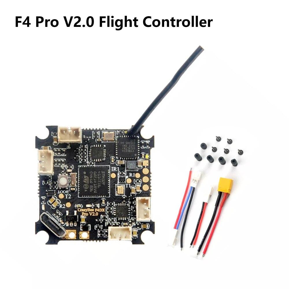 Contrôleur de vol Happymodel crazy ybee F4 Pro V2.0 Mobula7 HD 1-3 S avec ESC 5A et récepteur Flysky/Frsky/DSMX Compatible