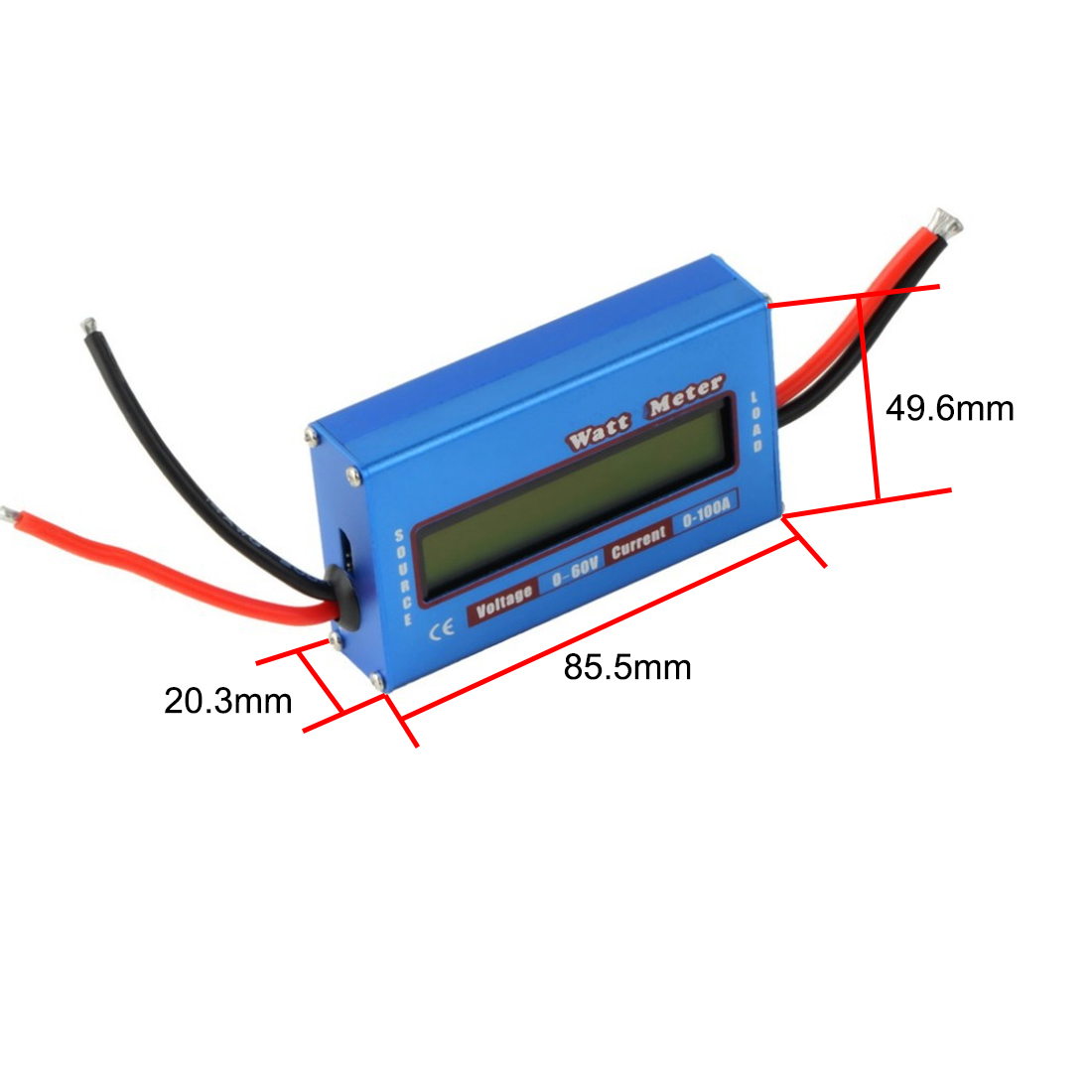 LCD Digital For DC 60V/100A Balance Voltage RC Battery Power Analyzer Watt Meter new digital balance voltage power watt meter analyzer tester checker for rc helicopter battery charger 60v 100a wattmeter
