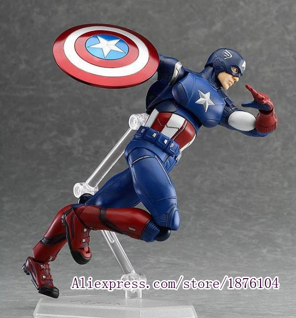 16CM The Avengers Captain America Super heroes Anime Action Figure Shield Model Toy Brinquedos Juguetes Kids Toys For Boys singlesale captain america 3 with car civil war marvel super heroes the avengers minifig assemble building blocks kids toys