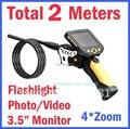 Free Shipping!NTS200 Longer 2M Dia 8.2mm Tube Snake Camera Endoscope Inspection Borescope DVR