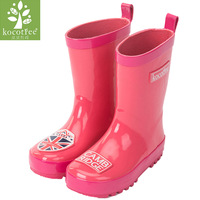 Kocotree Brand Children Raincoat Mating Rain Boots Kids Boys Girls Rain Shoes