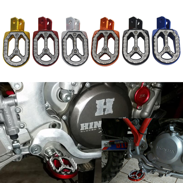 Motorcycle Foot Pegs Aluminum Footrests Footpegs Rests For 2003 2017 Honda Crf230f Crf230l Crf 230