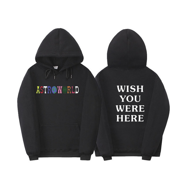 c5fb5f9a1684 Travis Scott Astroworld WISH YOU WERE HERE hoodies fashion letter print  Hoodie streetwear Man and woman Pullover Sweatshirt