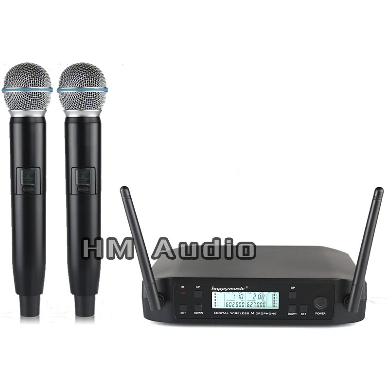 New High Quality Professional  Dual Wireless Microphone System Stage Performances A Two Wireless Microphone