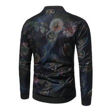 Colorful Flower Print Jacket Men 2017 Autumn Mens Jackets And Coats Slim Fit Varsity Baseball Jacket Casual Male Bomber Jackets
